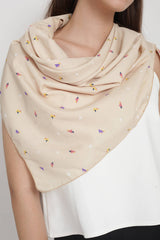 Pinetree Scarf in Beige