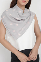 Flamingo Scarf in Light Grey