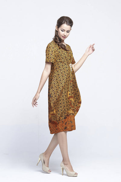 Bhavi Dress in Gold