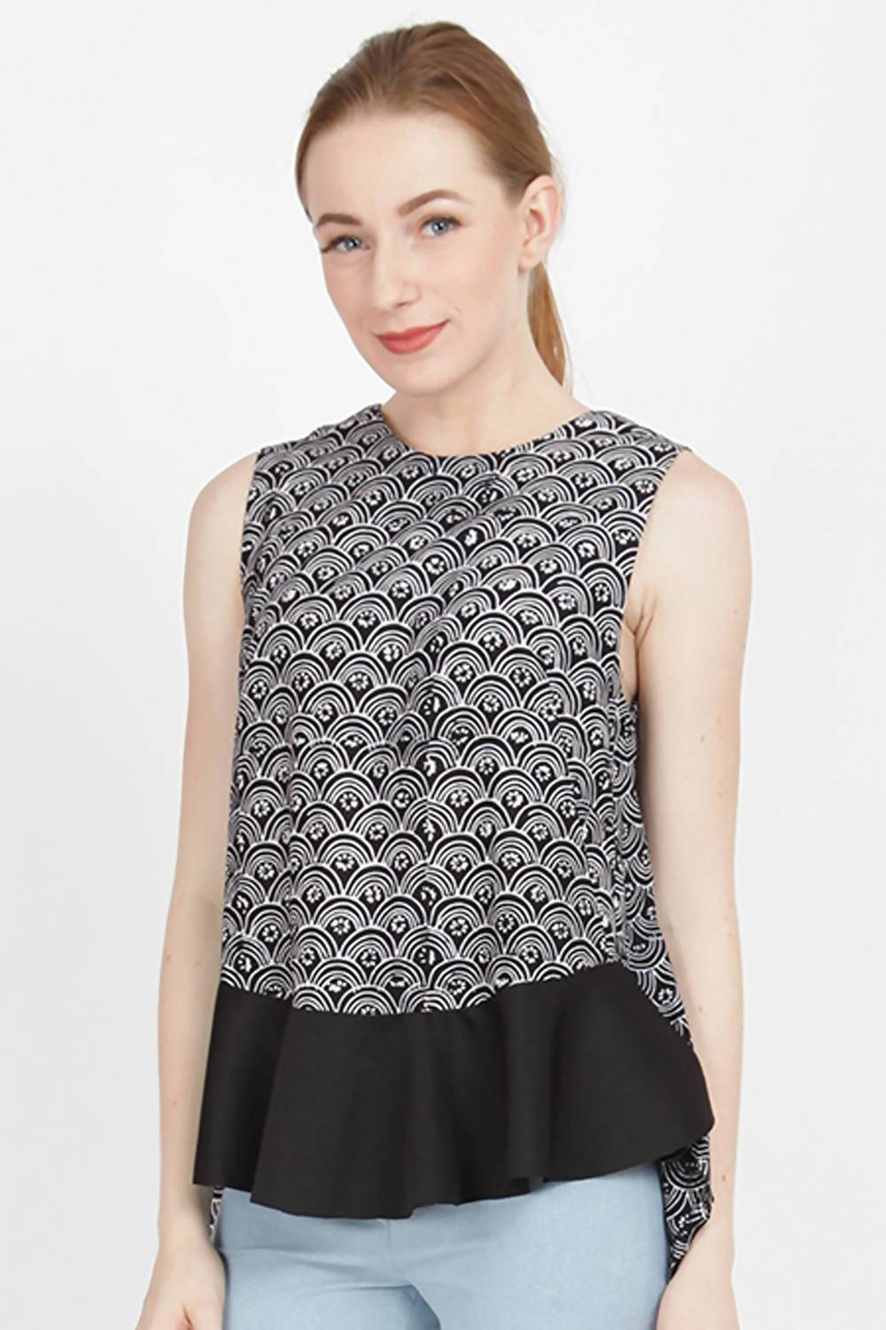 Polina Batik Top in Black