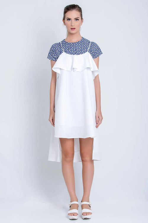 Shalom Dress in White