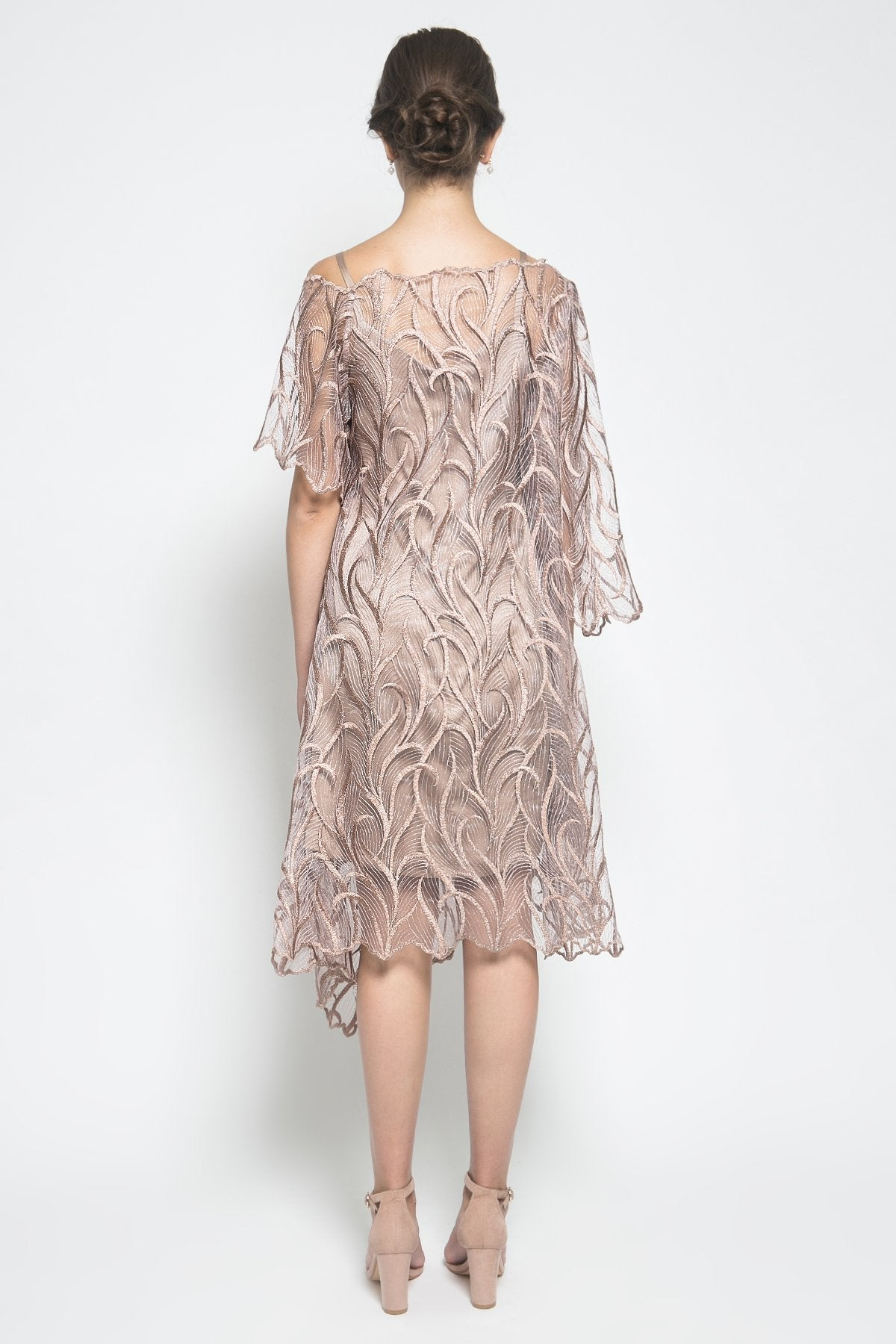 KÉNATA by Keisya Natalia Celine Dress in Rosegold