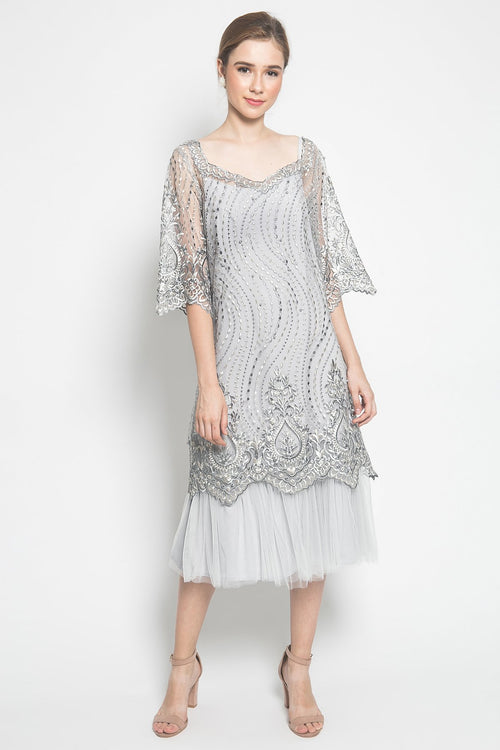 KÉNATA by Keisya Natalia Yvette Dress in Silver