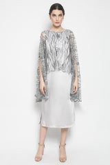 KÉNATA by Keisya Natalia Lorraine Dress in Silver