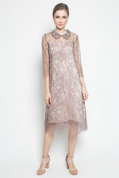 N Atelier Collar Dress in Mauve