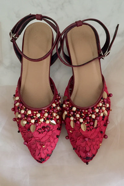 Levi Shoes in Maroon