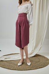 Puria Pants in Red Violet