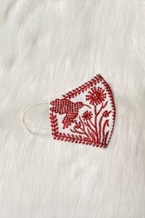 Embroidery clothmask red