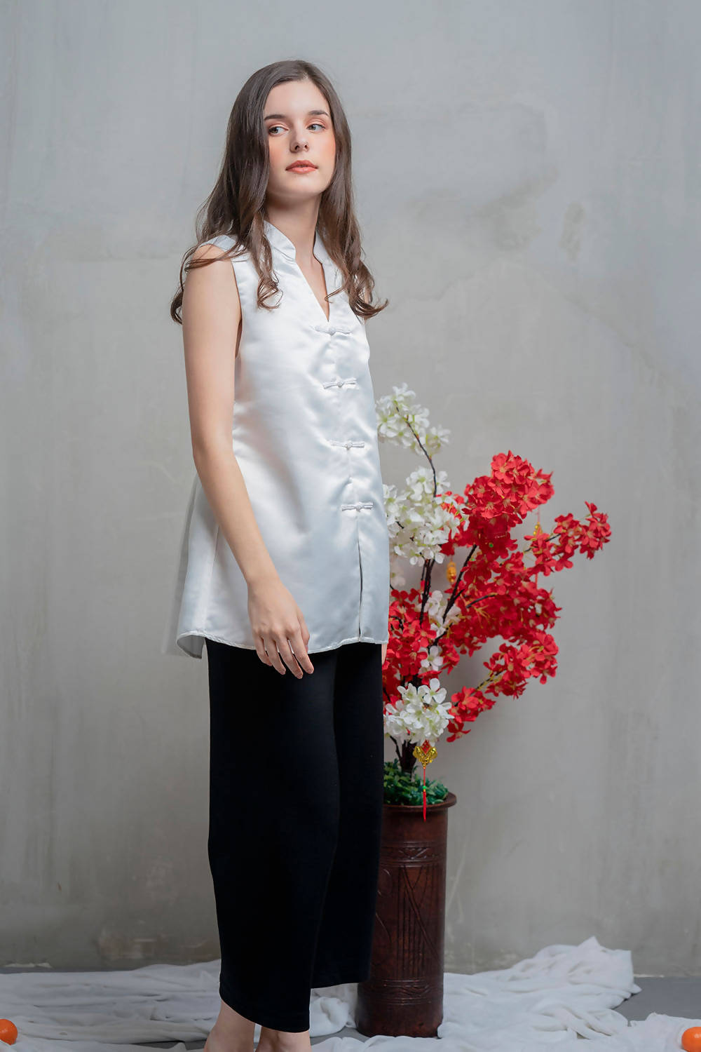 Shou Top in White