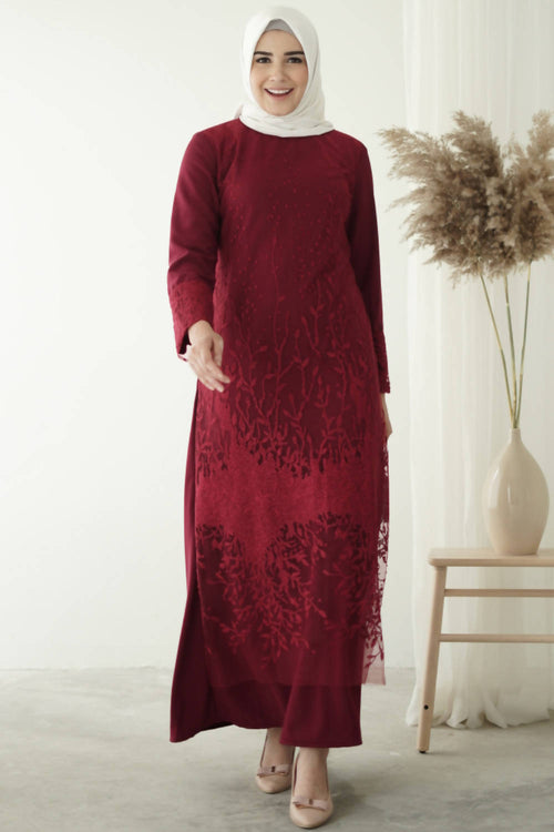 Luna Maxi Dress Maroon