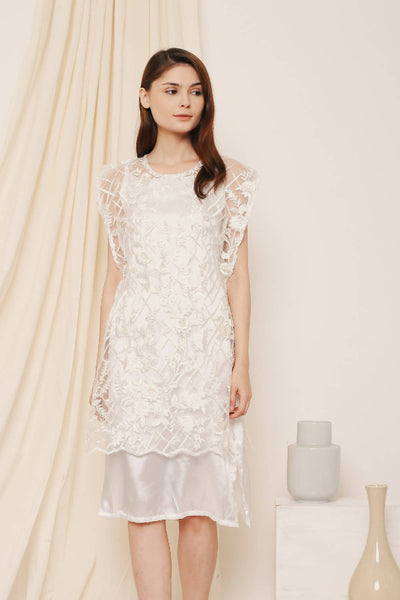 Canaan Vest Dress White