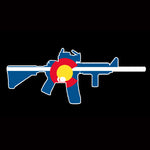 Colorado State Flag AR15 AR-15 vinyl Sticker Decal