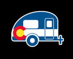 Colorado State Flag Camper RV Vinyl Sticker Decal