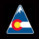 Colorado State Flag Mountain Vinyl Sticker Decal