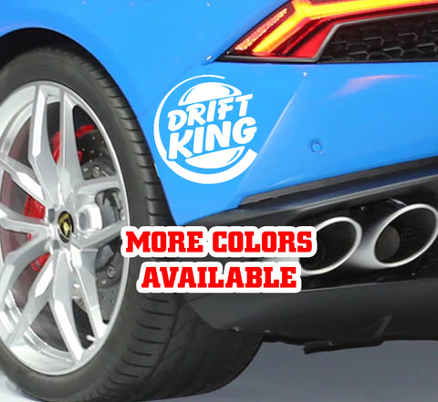 Drift King Vinyl Sticker Decal | Drift Racing Drifting