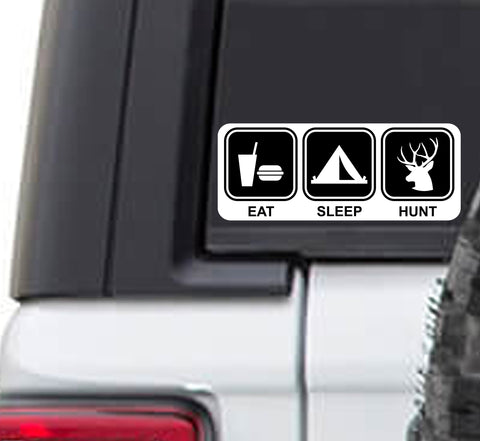 Eat Sleep Hunt Vinyl Sticker Decal | Deer Hunting