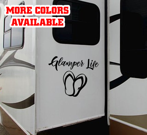 Glamper Life RV Door or Slide Vinyl Sticker Decal Graphic | #glamperlife