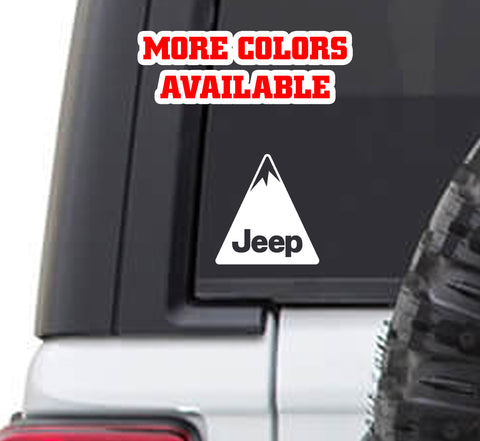 Jeeping Jeep Mountain Vinyl Decal Sticker | Jeeping 4x4