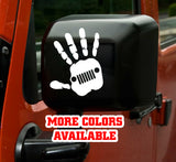 Jeep Wave Vinyl Sticker decal (Pair) - Grill