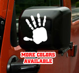 Jeep Wave Vinyl Sticker decal (Pair) - Hand
