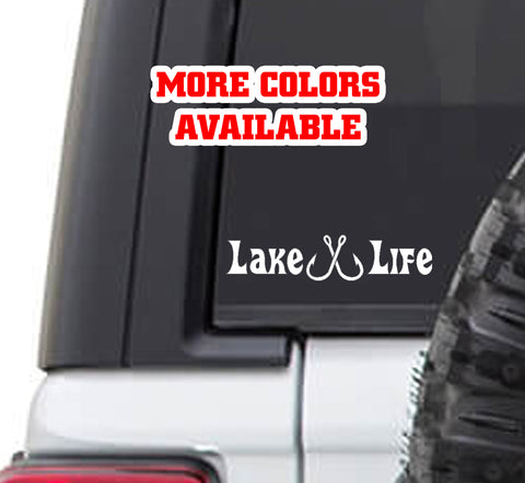 Lake Life Boating Fishing Vinyl Sticker Decal