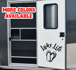 Lake Life RV Door or Slide Vinyl Sticker Decal Graphic | #lakelife