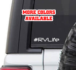 #rvlife RV Life Vinyl Sticker Decal | rving camping rv lifestyle