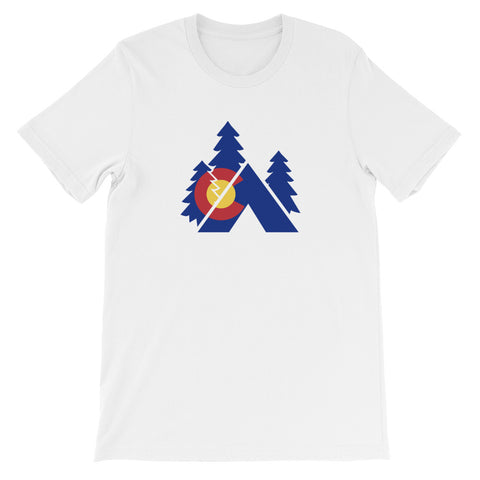 Colorado State Flag Tent Camping T-Shirt - (S-4XL) | Colorado camping RV