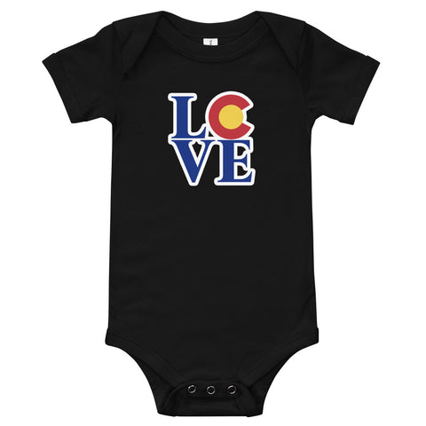 Colorado State Flag LOVE Baby Onesie | Colorado LOVE Baby Onesies
