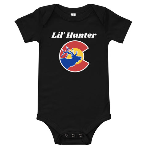 Colorado State Flag Lil' Hunter Baby Onesie | Colorado Native Baby Onesies hunting