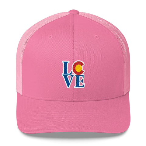 Colorado State Flag LOVE Hat | Colorado Native Hat