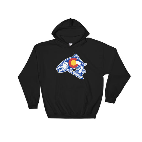 Rainbow Trout Fishing Colorado State Flag Hoodie hoody - (S-5XL) | fly fishing
