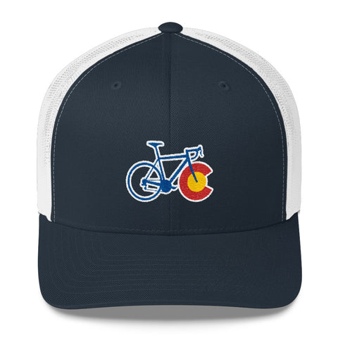 Colorado State Flag Cycling Hat | road bike biking bicycle cap