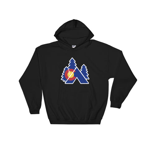 Colorado State Flag Tent Camping Hoodie Hoody - (S-5XL) | Colorado camping RV
