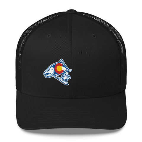Rainbow Trout Fishing Colorado State Flag Hat | fly fishing Angler hat
