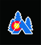Colorado State Flag Tent Vinyl Sticker Decal