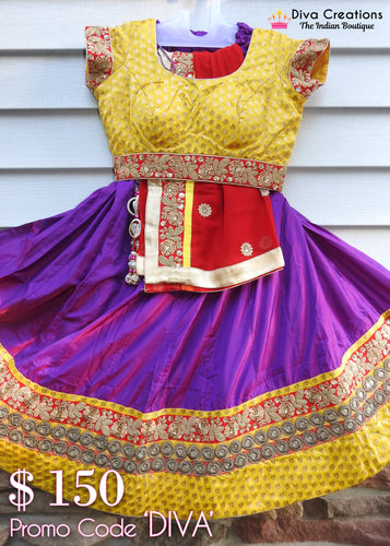 Purple and Gold Chaniya Choli | Garba 2018 Collection