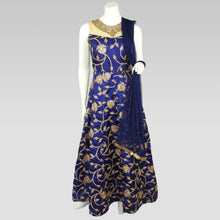 Load image into Gallery viewer, Gaun Style Blue and Gold Dress