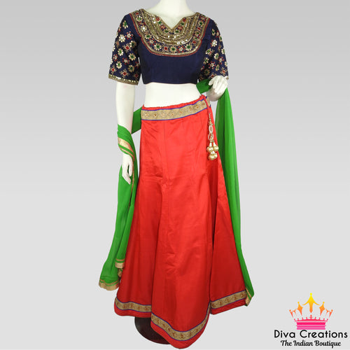 Red and Blue Chaniya Choli | Garba 2018 Collection