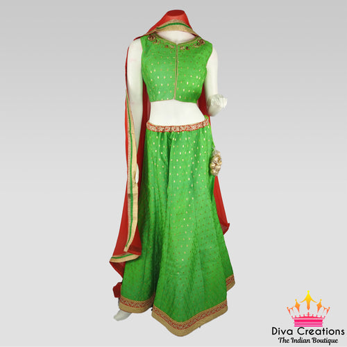 Parrot Green Chaniya Choli | Garba 2018 Collection