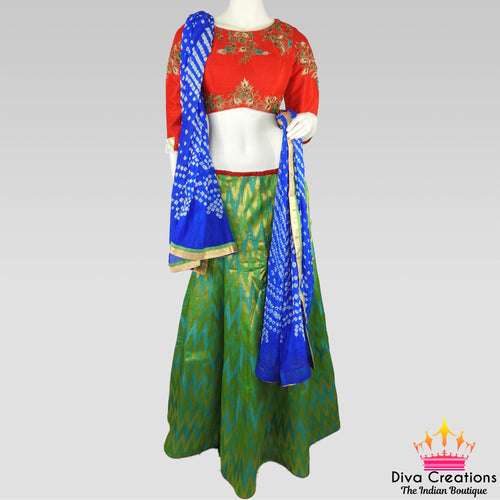 Red and Green Chaniya Choli | Garba 2018 Collection