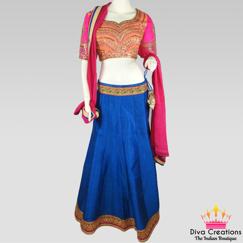Blue and Pink Chaniya Choli | Garba 2018 Collection