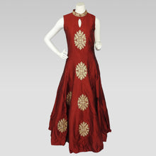 Load image into Gallery viewer, Gaun Style Red Dress with Pattern