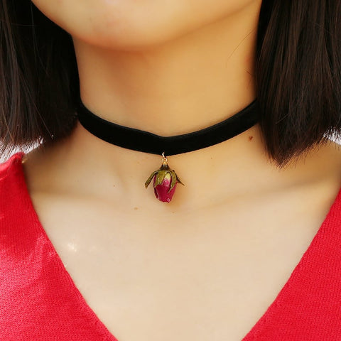 Image of Beauty and the Beast - Immortal Rose Choker