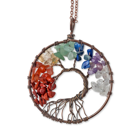 Image of Tree of Life Crystal Pendant Necklace