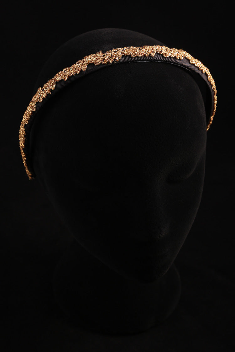 """Gold Adornment"" Small Satin Headband"