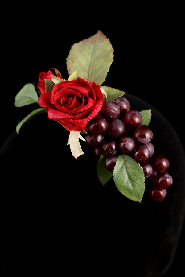 """Rose and Grapes"" Barrette"
