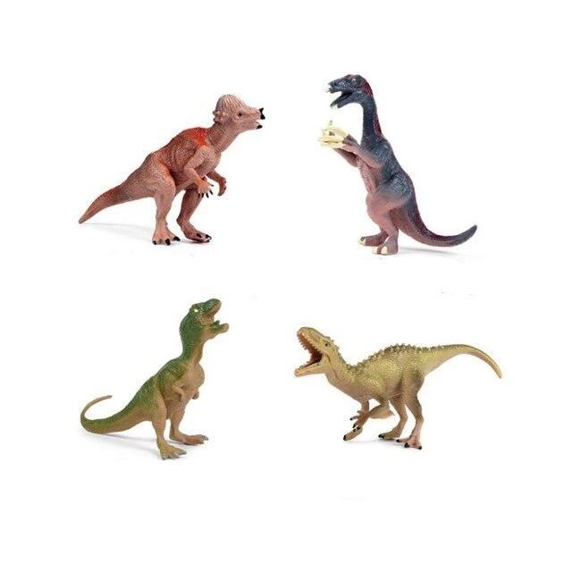 Quatre dinosaures de collection