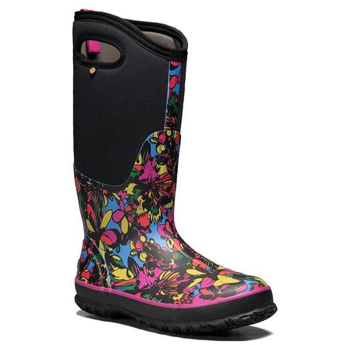 BOGS CLASSIC TALL WILDFLOWER WOMEN'S BLACK MULTI Boots Bogs