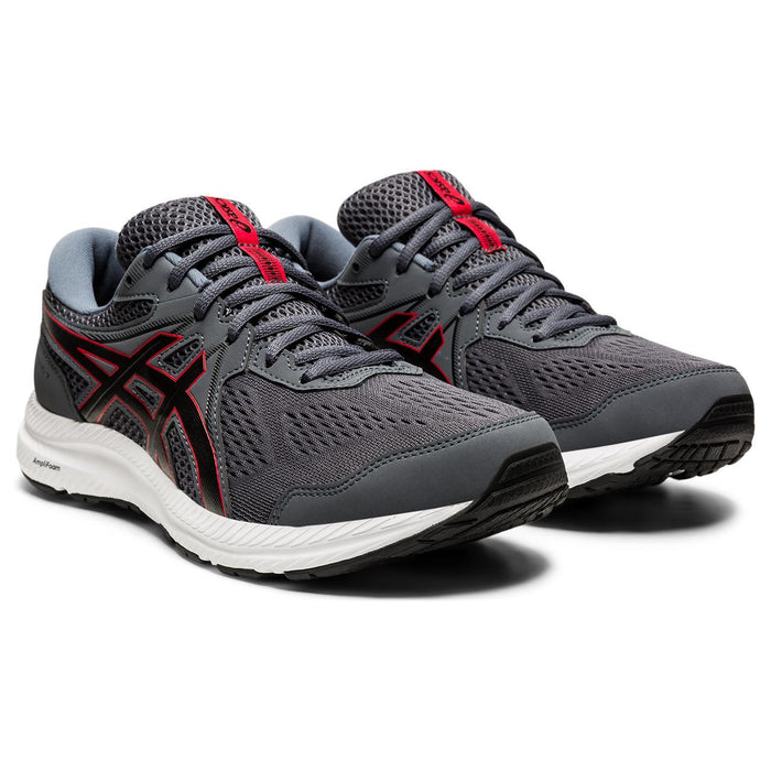 ASICS GEL CONTEND 7 MEN'S CARRIER GREY/RED Sneakers & Athletic Shoes Asics